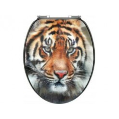 Cornat KSD707 3D Tiger Houten WC bril 130-180 mm
