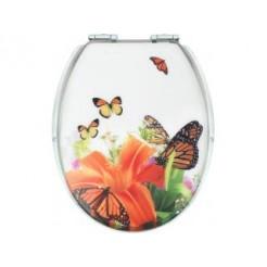 Cornat KSDSC337 Butterfly Acryl WC bril Softclose 110-175 mm